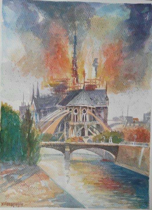 Notre Dame Fire - artgallery