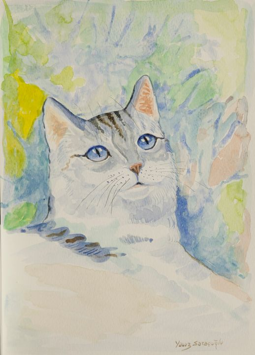 White Cat - artgallery