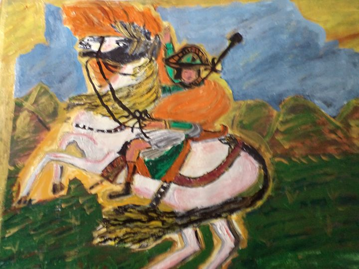 soldier on horse - Surya hema