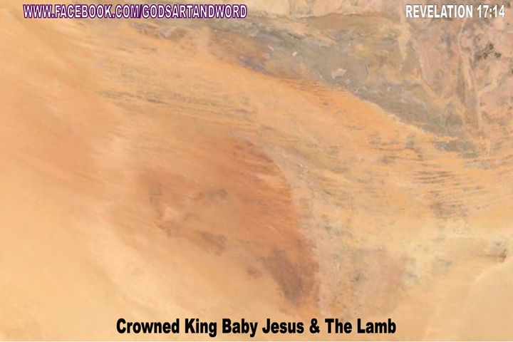 CROWNED KING BABY JESUS & THE LAMB - Gods Artwork According to Acts 2:19