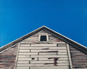 Corn crib and blue sky