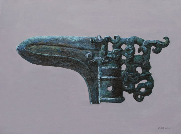 Bronze Series – Dagger Axe 03 - Chunlei Ni,  a Chinese Bronze Oil painter