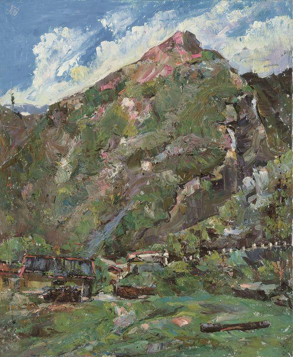 Mountain Siguniang - Chunlei Ni,  a Chinese Bronze Oil painter