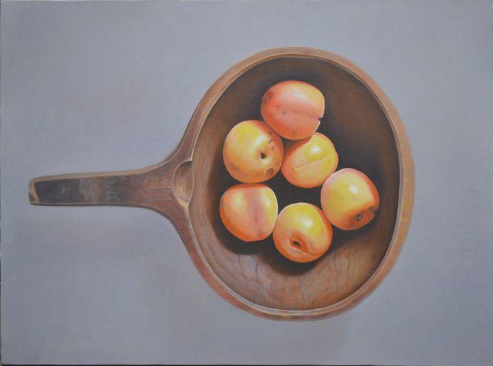 Apricot - Chunlei Ni,  a Chinese Bronze Oil painter