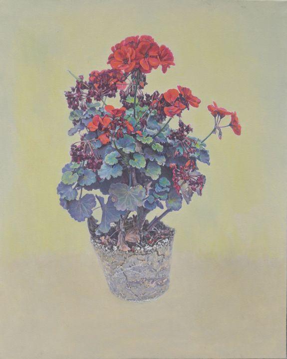 Begonias 01 - Chunlei Ni,  a Chinese Bronze Oil painter