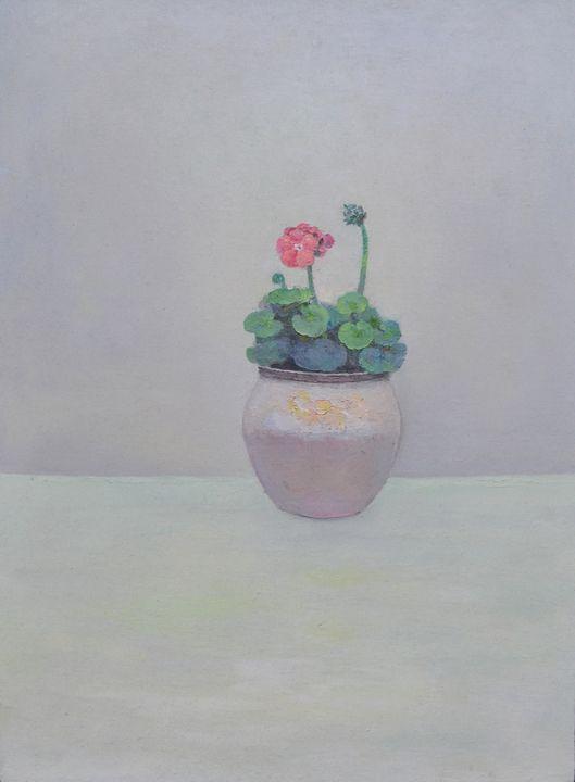 Begonia 02 - Chunlei Ni,  a Chinese Bronze Oil painter