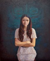 Chunlei Ni,  a Chinese Bronze Oil painter