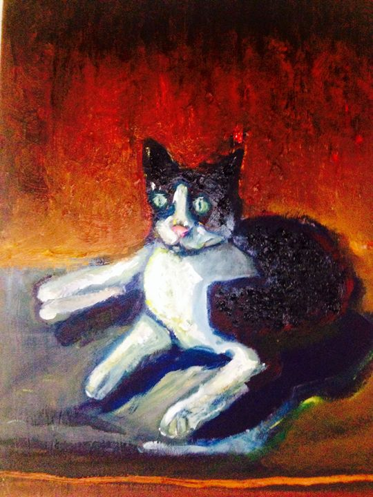 My kitty cat. - My unique style of Painting