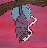 Original Bat painting
