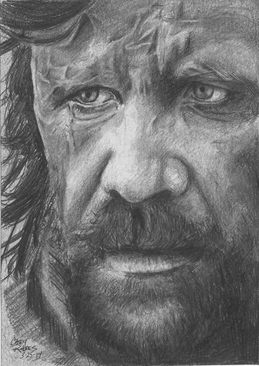 The Hound - Paint and Sketch by Casey Rhodes