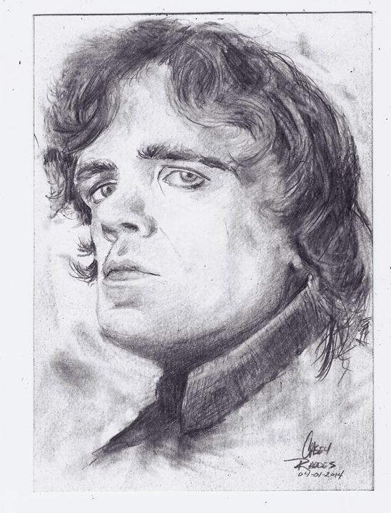 """Game of Thrones """"Tyrion Lannister"""" - Paint and Sketch by Casey Rhodes"""