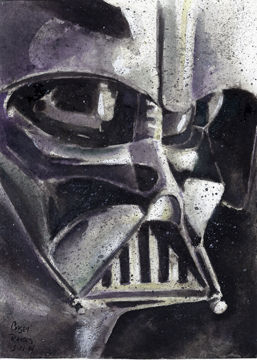Darth Vader - Paint and Sketch by Casey Rhodes