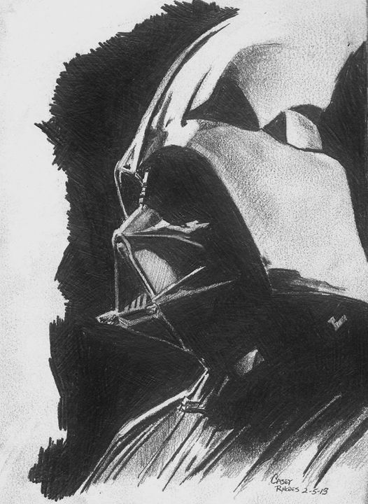 vader - Paint and Sketch by Casey Rhodes