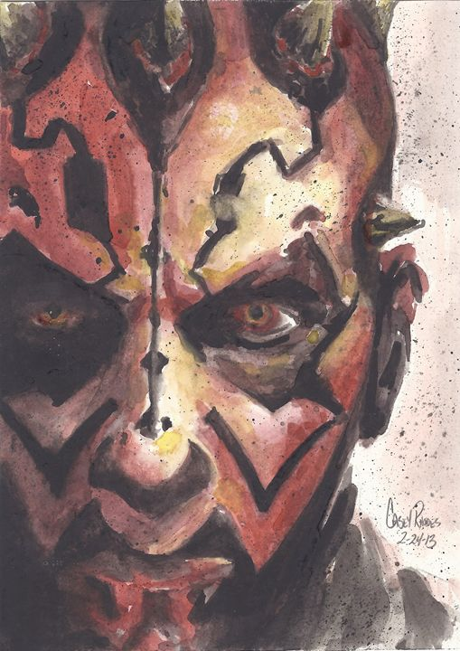 darth maul - Paint and Sketch by Casey Rhodes