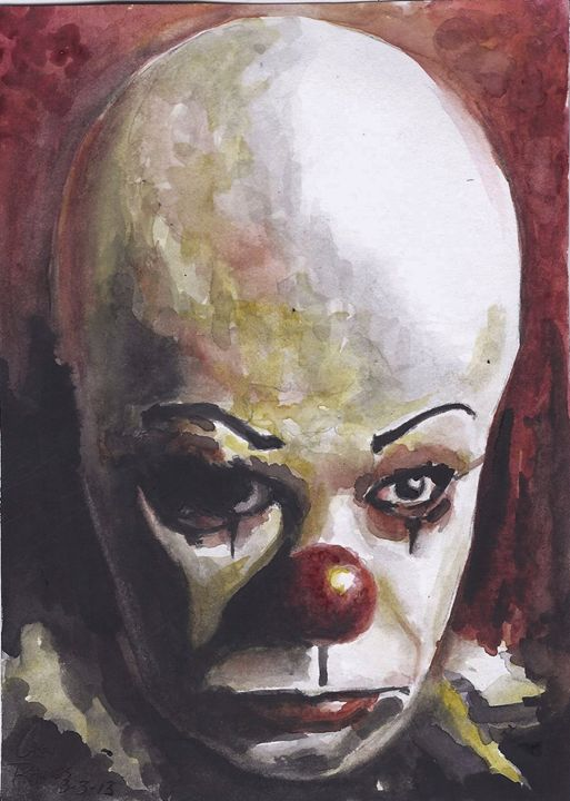 pennywise - Paint and Sketch by Casey Rhodes