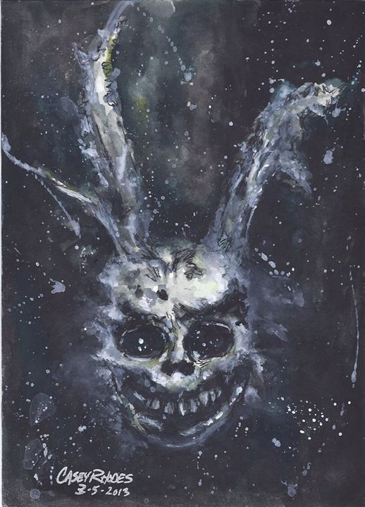donny darko - Paint and Sketch by Casey Rhodes