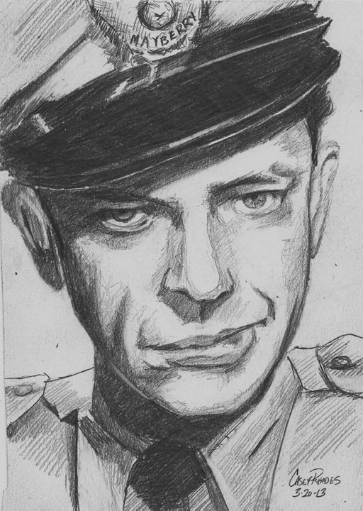 barney fife - Paint and Sketch by Casey Rhodes