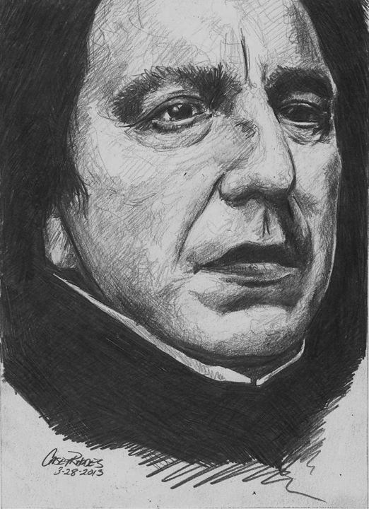 snape - Paint and Sketch by Casey Rhodes
