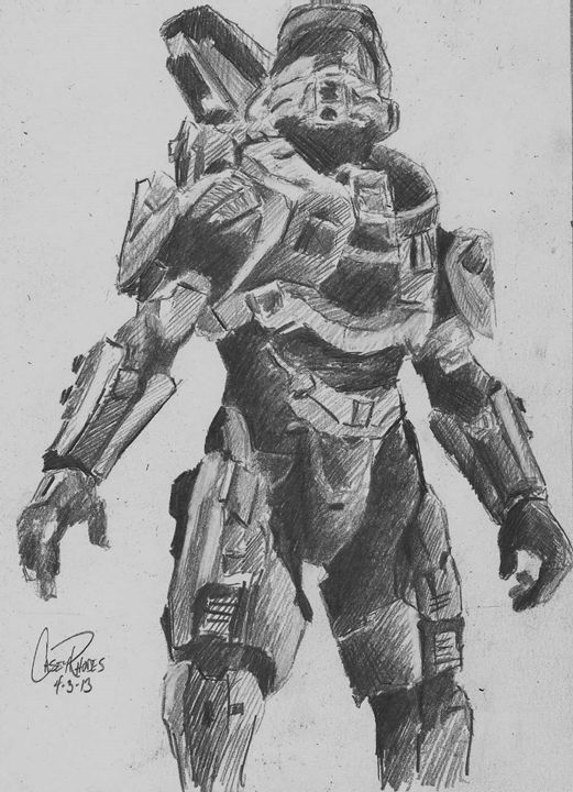 halo - Paint and Sketch by Casey Rhodes