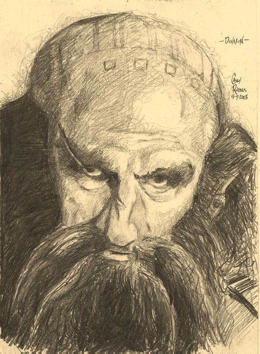dwalin - Paint and Sketch by Casey Rhodes