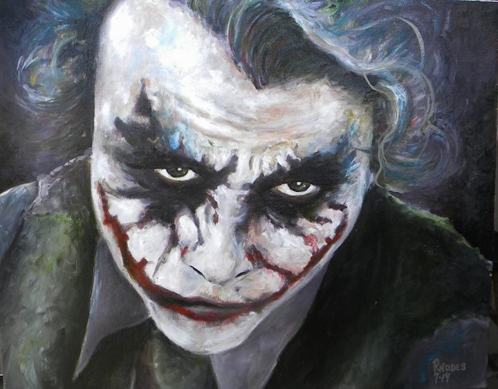 The joker 2 - Paint and Sketch by Casey Rhodes