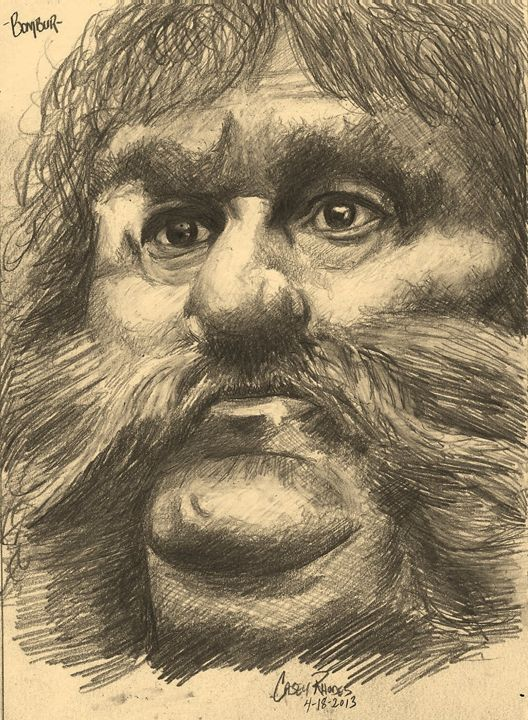 bombur - Paint and Sketch by Casey Rhodes