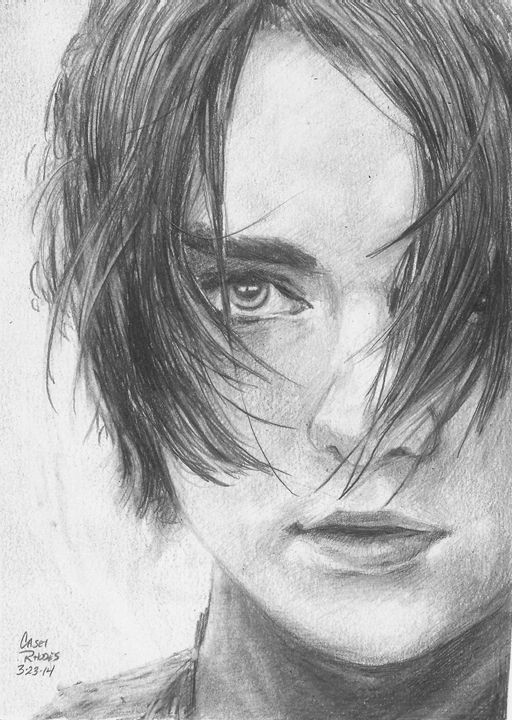 arya stark - Paint and Sketch by Casey Rhodes