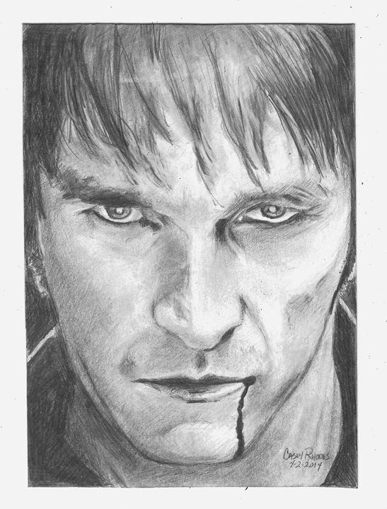 bill compton-true blood - Paint and Sketch by Casey Rhodes