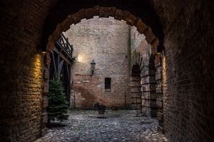 Medieval courtyard in the fortress