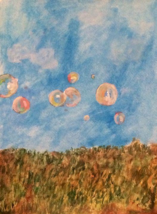 Bubbles in field - Jessica Rose Artistry
