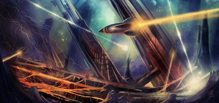 Burning Alien Worlds - I Create Worlds - All things Fantasy by Luis Peres