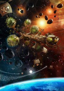 Tree Ship Space Pirates