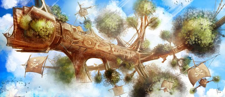 Tree Ship - I Create Worlds - All things Fantasy by Luis Peres