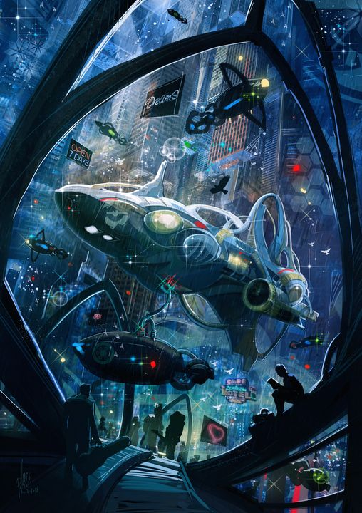 Arrivals and departures - Starport - I Create Worlds - All things Fantasy by Luis Peres