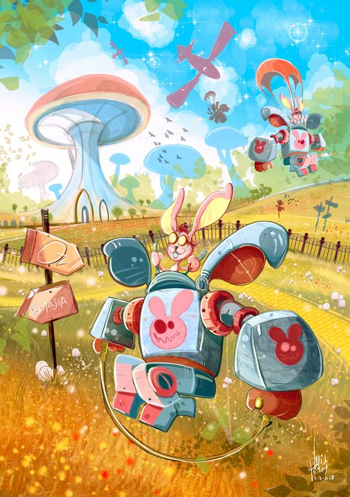 Bunny Mech Patrol - I Create Worlds - All things Fantasy by Luis Peres