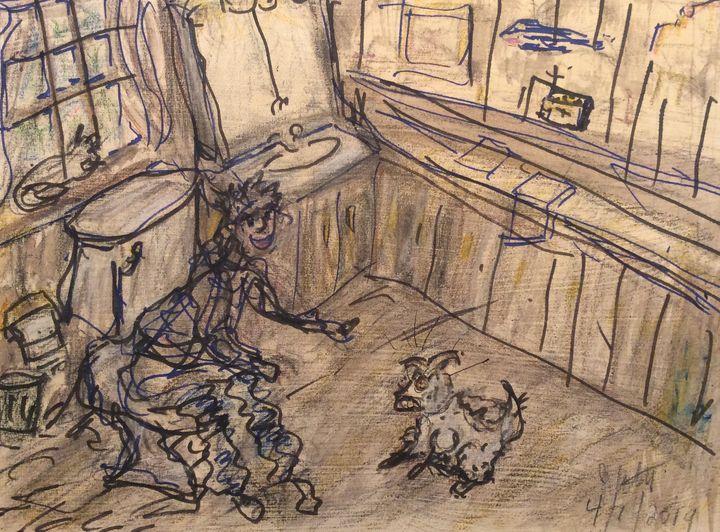 ' Iggy in the Bathroom ' - Hillbillyrustic