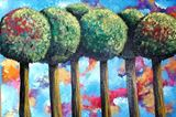 Bubble Tree Abstract Painting