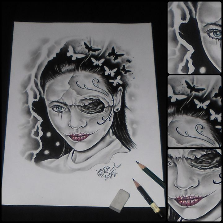Skully lady - Blaze ZEN tattoo