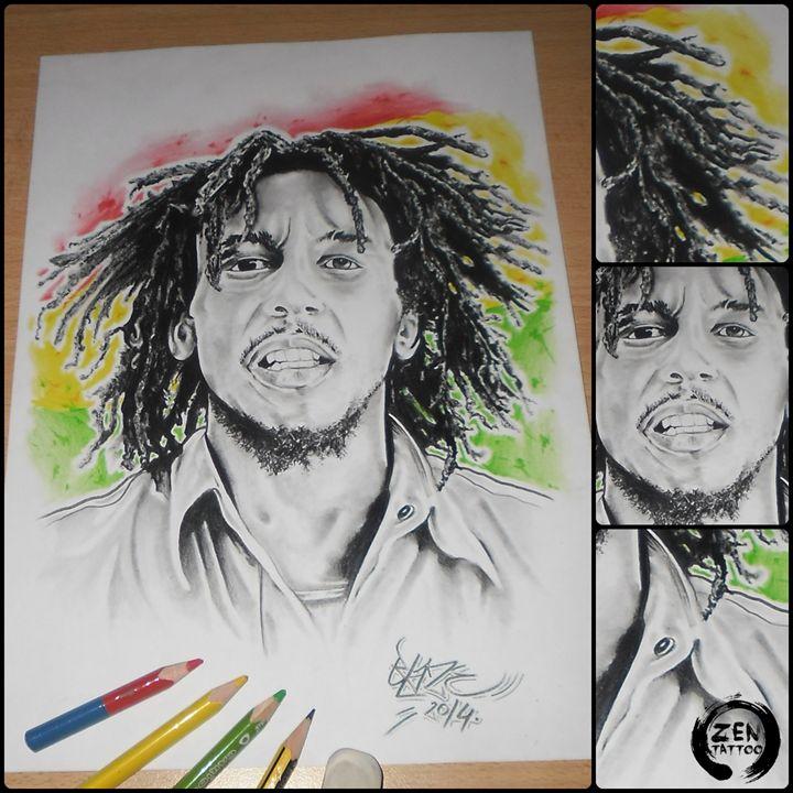 Bob Marley - Blaze ZEN tattoo
