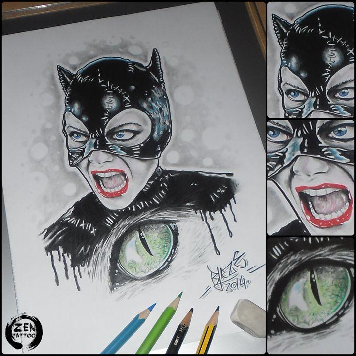 Catwoman - Blaze ZEN tattoo