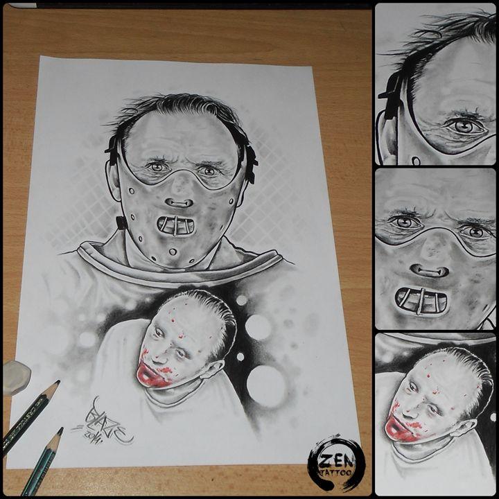 Hannibal Lecter - Blaze ZEN tattoo
