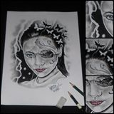 Original pencil drawing, A4 peper