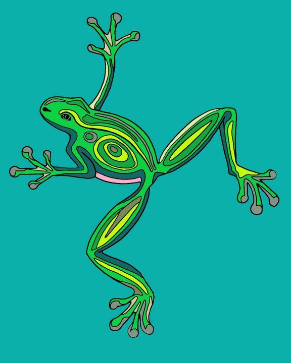 Art Deco Frog - Jennydearinger