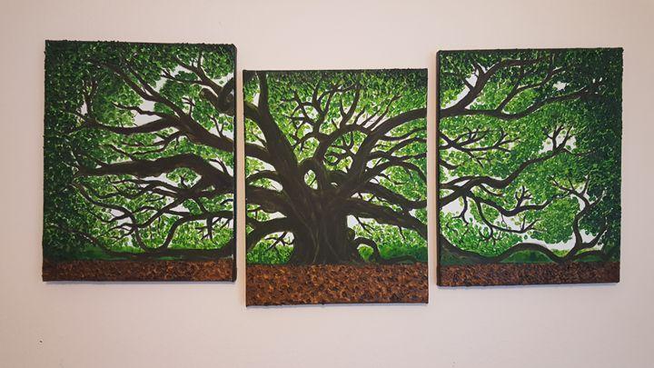 Giant Angle Oak Tree (3-sectional) - Trees