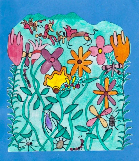 Foxes number 2 - Little Garden arts