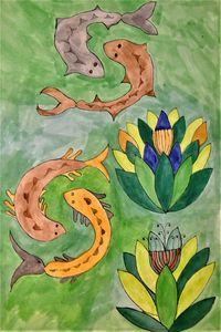 Yin and Yang fish version 4 - Little Garden arts