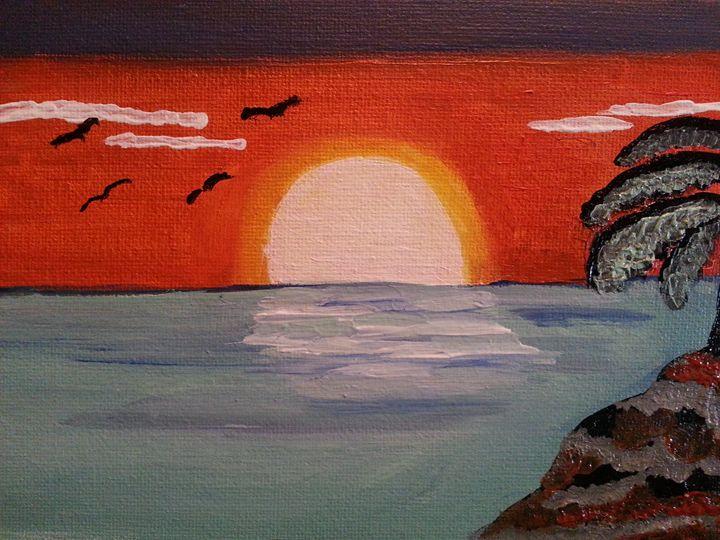 Ocean view of  sunset - KatrinaArt