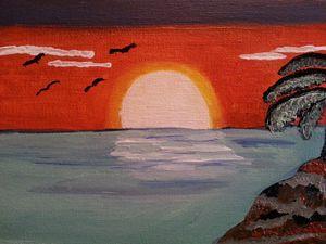 Ocean view of  sunset
