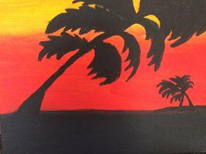 hawaii storm at sunset