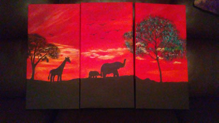 Africa acrylic painting - KatrinaArt
